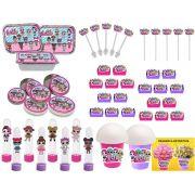 Kit Festa Lol Surprise (pink E Lilás) 160 Peças (20 pessoas)