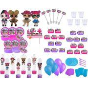 Kit festa Lol Surprise (pink, lilás e azul claro) 433 peças