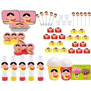 Kit festa Magali Toy 112 peças (10 pessoas)