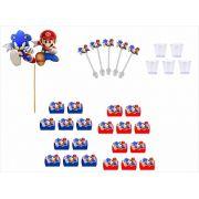 Kit festa Mario x Sonic 61 peças