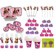kit festa Masha e o Urso 160 peças (20 pessoas)