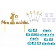 Kit festa Meu 1ºaninho Realeza Príncipe 61 peças