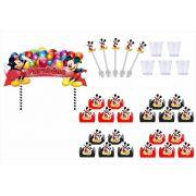 Kit festa Mickey 155 peças (20 pessoas)