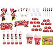 Kit festa Minnie vermelha 155 peças (20 pessoas)