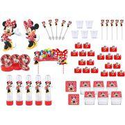 Kit festa Minnie vermelha 173 peças (20 pessoas)