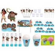 Kit festa Moana 105 peças (10 pessoas)