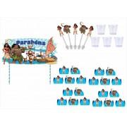 Kit festa Moana 155 peças  20 pessoas