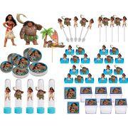 Kit festa Moana 161 peças (20 pessoas)