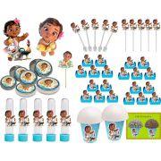 Kit Festa Moana Baby 99 Peças (10 pessoas)