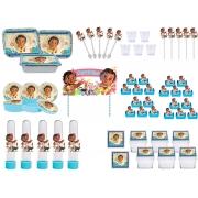 Kit festa Moana baby (azul claro) 261 peças (30 pessoas)
