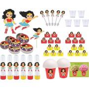 Kit Festa Mulher Maravilha Baby 95 Peças (10 Pessoas)