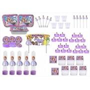 Kit festa decorado Princesa Sofia  191 peças (20 pessoas)
