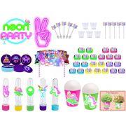 Kit festa Neon 105 peças (10 pessoas)