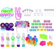 Kit festa Neon 208 peças (10 pessoas)