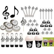 kit festa Notas Musicais 99 peças (10 pessoas)