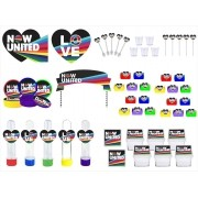 Kit festa Now United (colorido) 173 peças (20 pessoas)