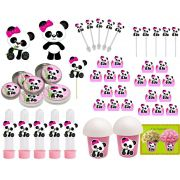 Kit Festa Panda Menina 143 Peças (20 pessoas)