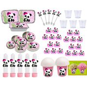 Kit festa Panda Menina 152 peças (20 pessoas)