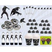 Kit festa Pantera Negra 143 peças (20 pessoas)