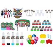 Kit festa Power Ranger Dino Charger 363 peças (20 pessoas)