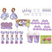 Kit festa decorado  Princesa Sofia  105 peças (10 pessoas)
