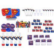 Kit festa Super Man 121 peças (10 pessoas)