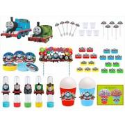 Kit festa Thomas e Seus Amigos (colorido) 155 peças  20 pessoas