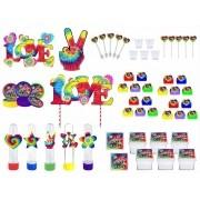Kit festa Tie Dye 113 peças (10 pessoas)