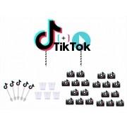 Kit festa Tik Tok (preto) 61 peças