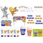 Kit Festa Tom e Jerry 155 Peças (20 pessoas)