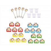 Kit festa Turma da Monica Toy 105 peças (10 pessoas)
