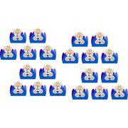 Kit festa Urso Príncipe (azul escuro ) 107 peças (10 pessoas)