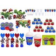 Kit festa decorado Vingadores Baby 155 peças  20 pessoas