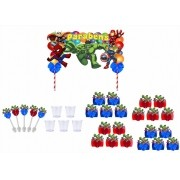 Kit festa decorado Vingadores Baby  61 peças