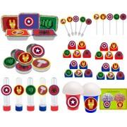 Kit festa Vingadores Símbolos 178 peças (20 pessoas)