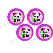 Kit ioiô, caixinha e cofrinho Panda Menina 60 peças (20 pessoas)