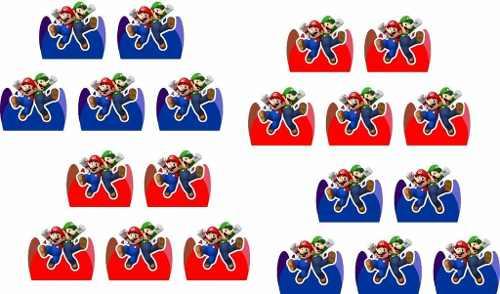 Kit Festa Infantil Mario Bros 265 Peças (30 pessoas)