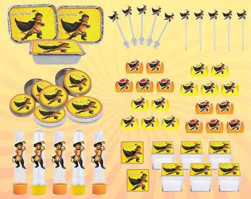 Kit Festa Infantil O Gato De Botas 178 Pças (20 pessoas)