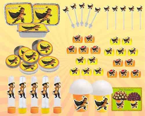Kit Festa O Gato De Botas 160 Peças (20 pessoas)