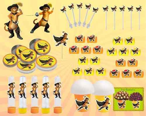 Kit Festa O Gato De Botas 265 Peças (30 pessoas)