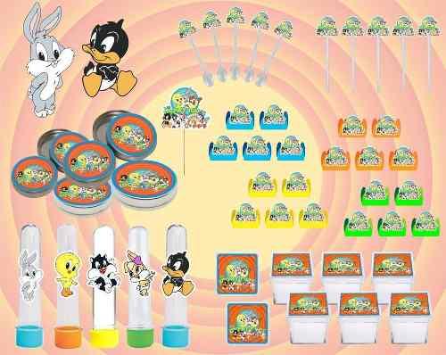 Kit Festa Looney Tunes Baby 107 Peças (10 pessoas)