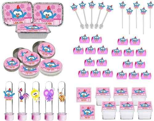 Kit Festa Galinha Pintadinha Mini (rosa) 114 Pças (10 pessoas)