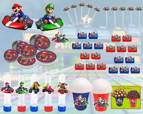 Kit Festa Mario Kart 143 Peças (20 pessoas)