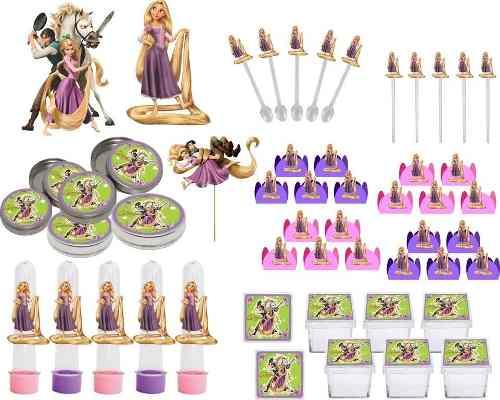 Kit Festa Enrolados (rapunzel) 107 Peças (10 pessoas)