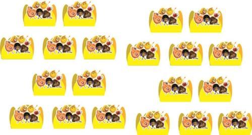 Kit Festa  Emoji O Filme 143 Peças (20 pessoas)