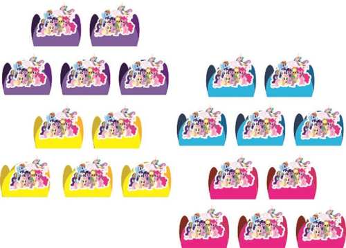 Kit Festa Infantil My Little Pony 265 Peças (30 pessoas)