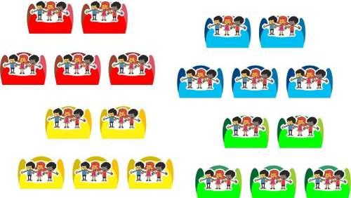 Kit Festa Infantil 3 Palavrinhas 99 Peças (10 pessoas)