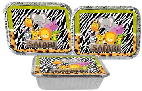 Kit Festa Infantil Safari Menino (verde escuro) 178 Pças (20 pessoas)