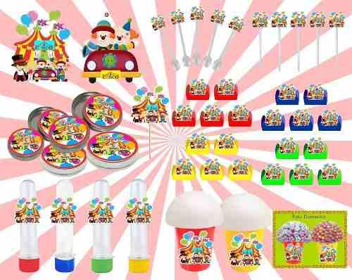 Kit Festa Infantil Circo 265 Peças (30 pessoas)