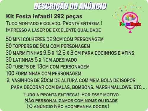 Kit Festa Cebolinha (turma Da Mônica) 292 Peças (30 pessoas)